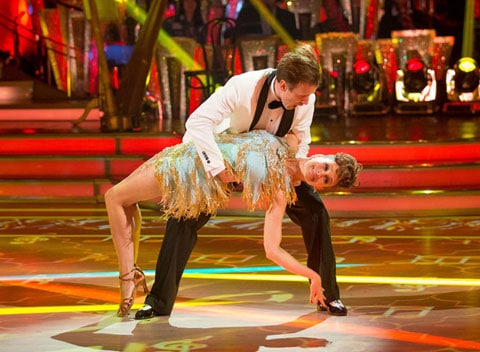 Anton Du Beke and Katie Derham dance the Jive