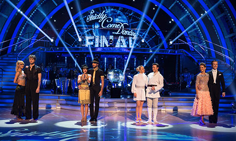 The finalists in the Strictly 2015 Grand Final