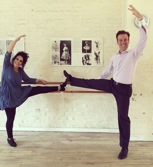 Anton Du Beke & Lesley Joseph in training