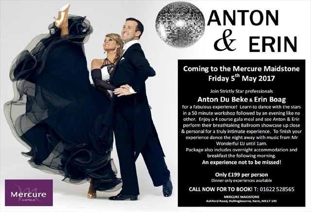Anton & Erin at the Mercure Maidstone