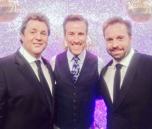 Anton Du Beke with Alfie Boe and Michael Ball