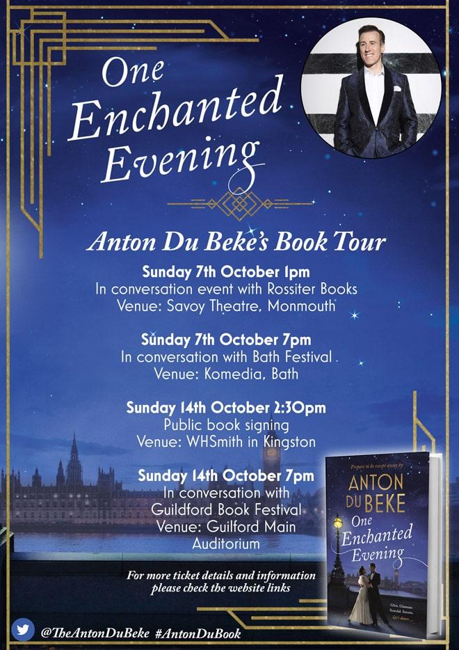 Anton Du Beke - Book Tour Dates