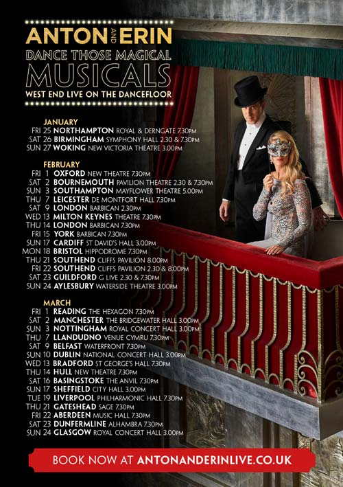 Dance Those Magical Musicals - dates and venues