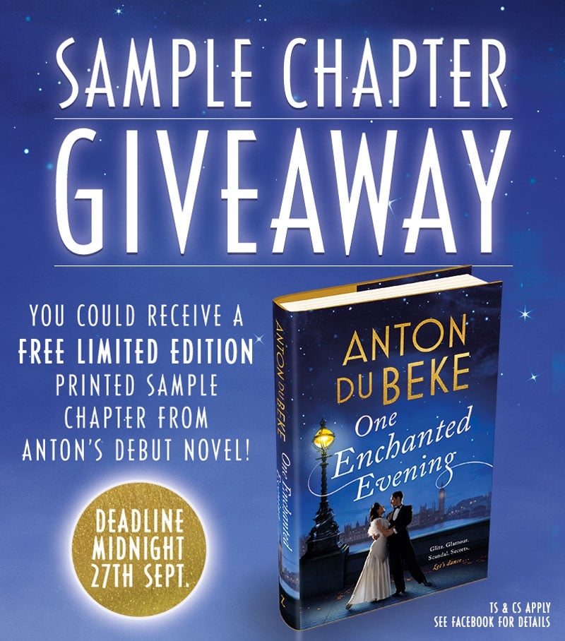 Win a free printed sample chapter from Anton's debut novel