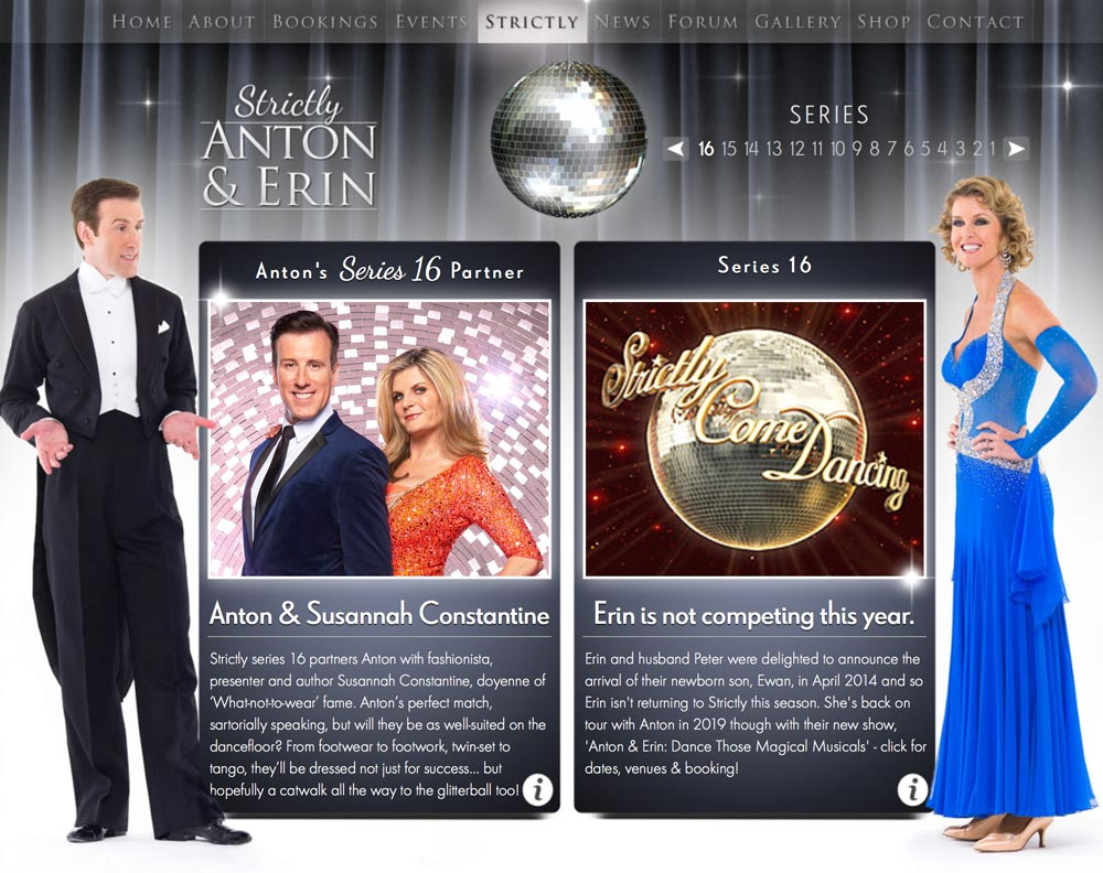 Strictly series 16 Dancecard