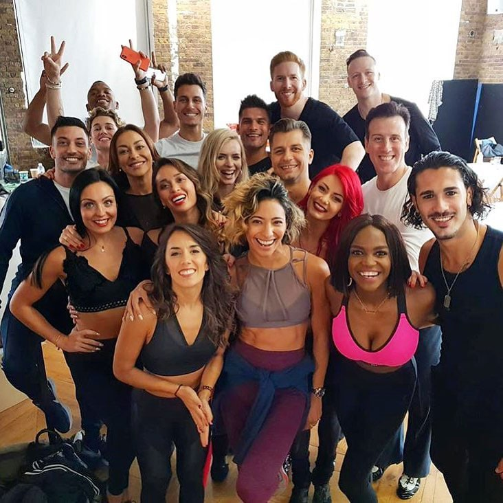 Strictly professional dancers 2018