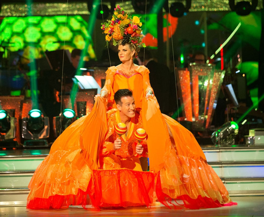 Anton Du Beke and Susannah Constantine dance the Samba