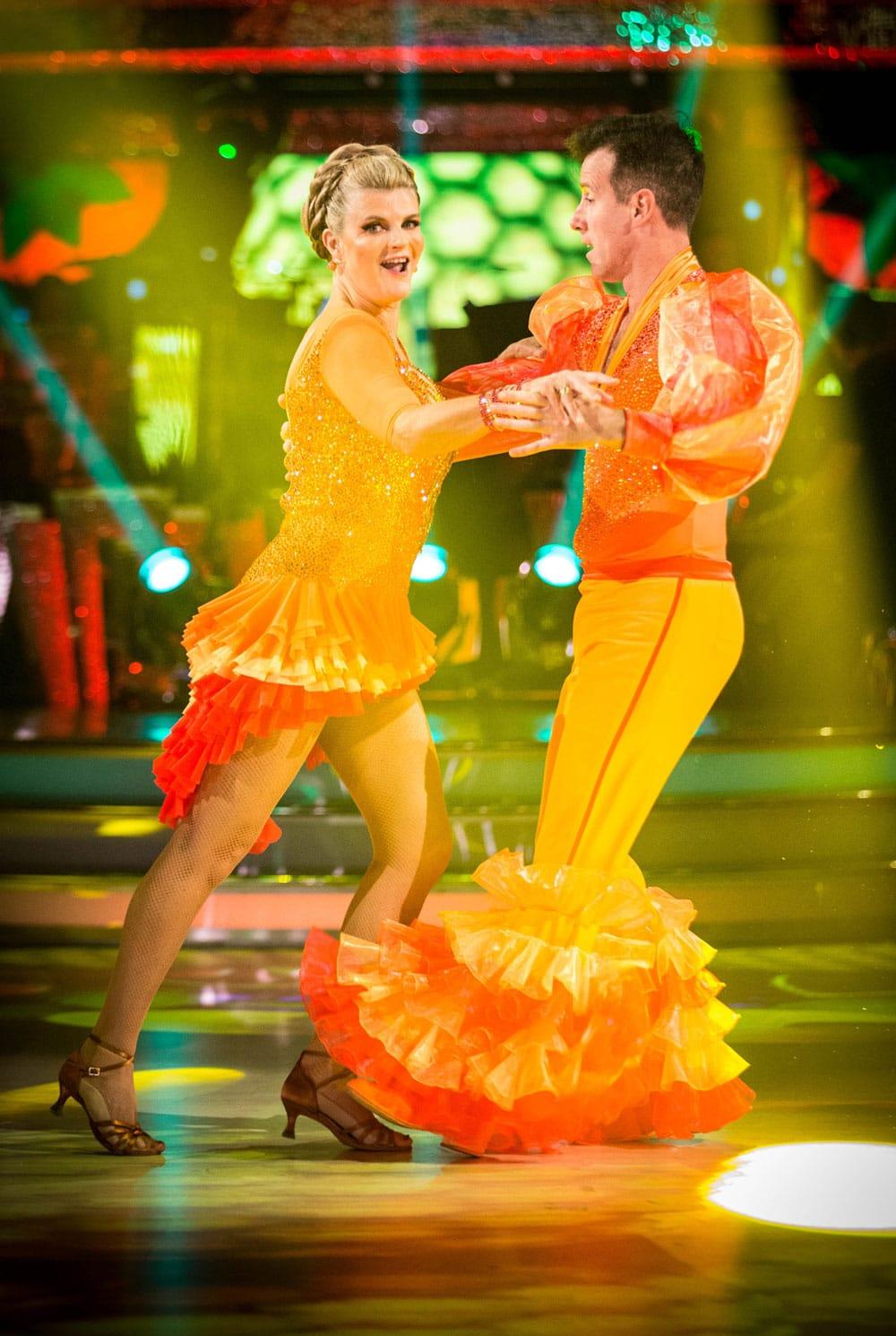 Anton Du Beke and Susannah Constantine dance the Samba