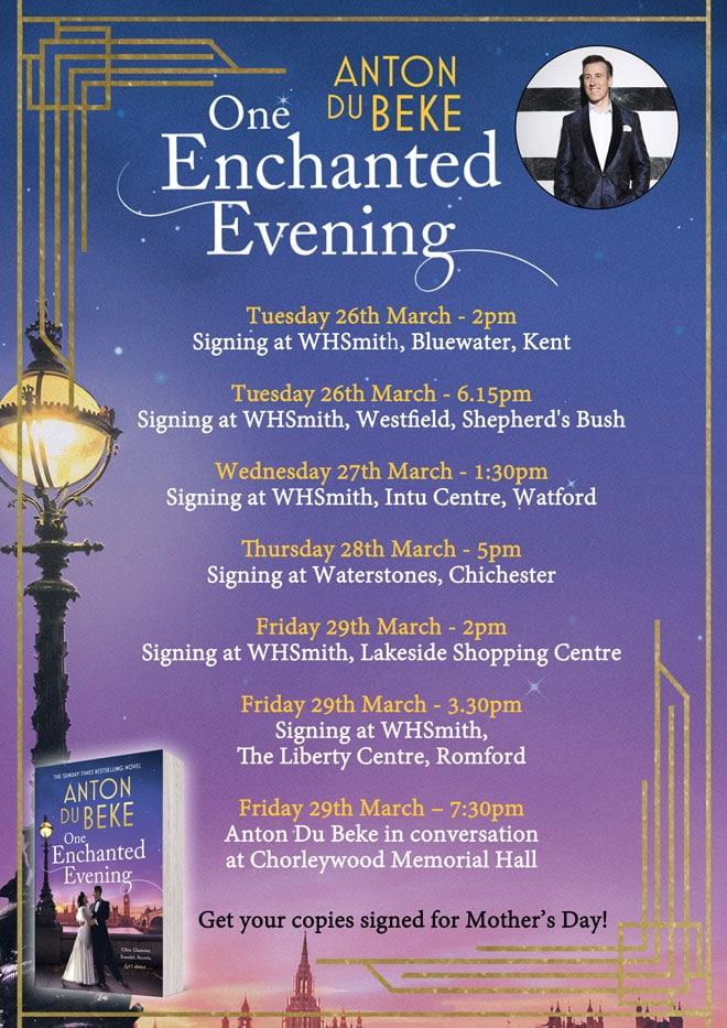 Anton Du Beke - paperback edition book tour, March 2019
