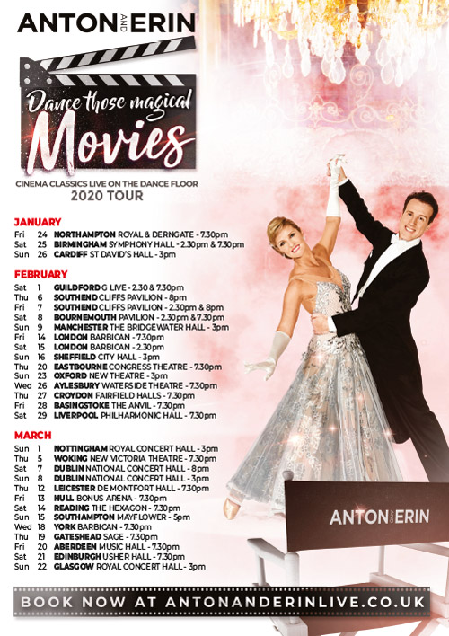 Anton & Erin - Dance Those Magical Movies - 2020 Tour