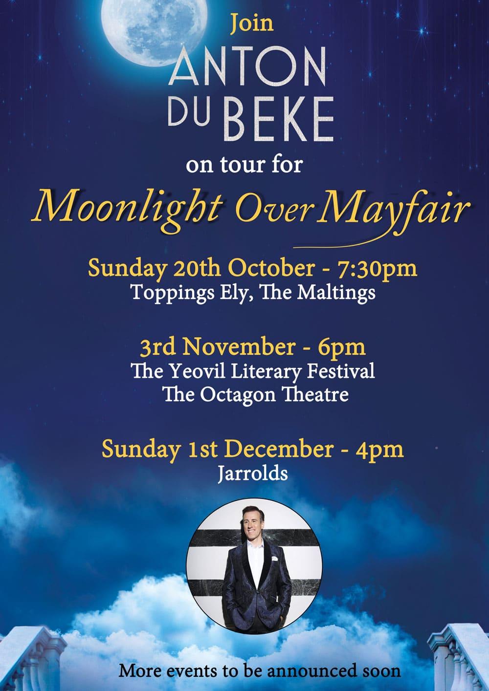 Moonlight Over Mayfair - book tour 1