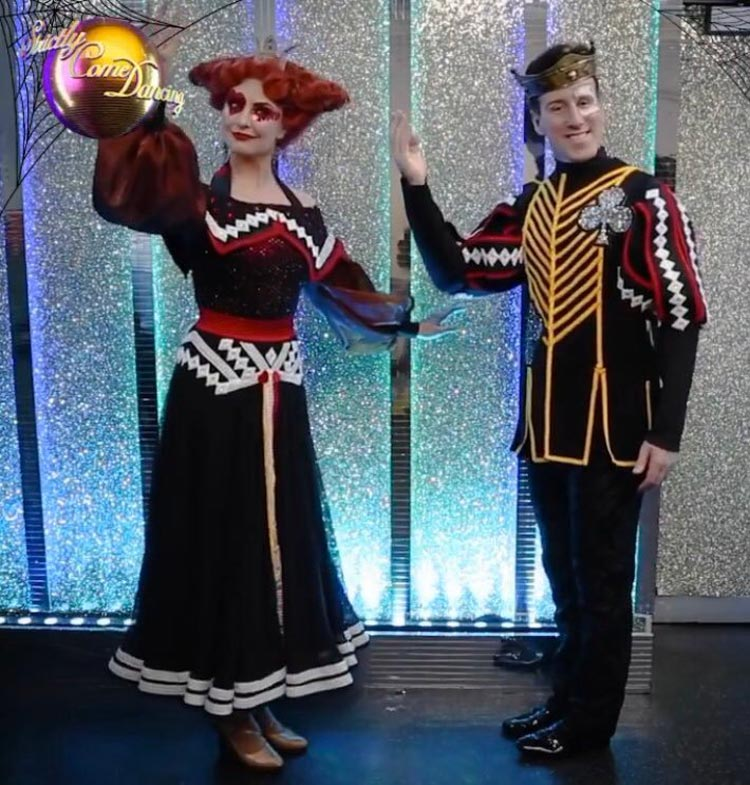 Emma and Anton in Halloween costume