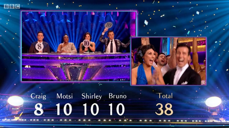 Anton and Emma's Final Showdance Score
