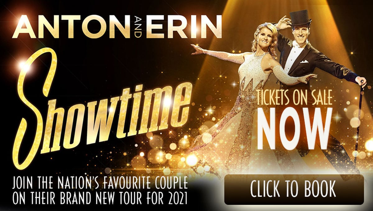 Anton & Erin on tour in 2021: Showtime - Book now!