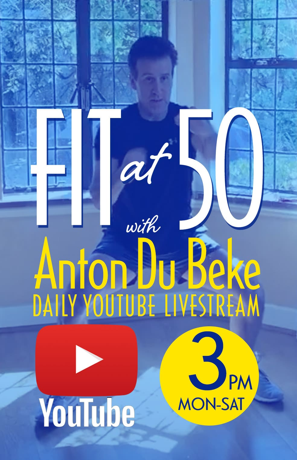 Fit at 50 daily live-stream on youtube