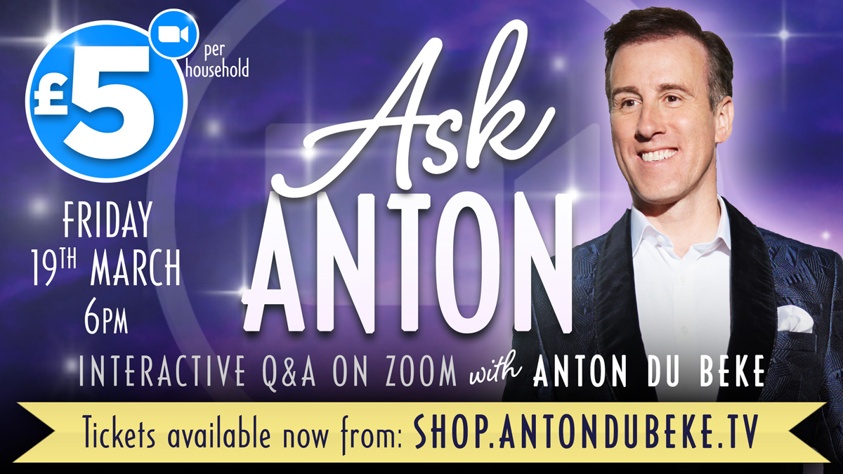 Ask Anton - interactive Q&A on zoom