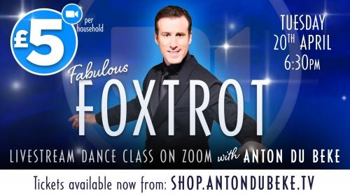 Foxtrot dance class with Anton Du Beke