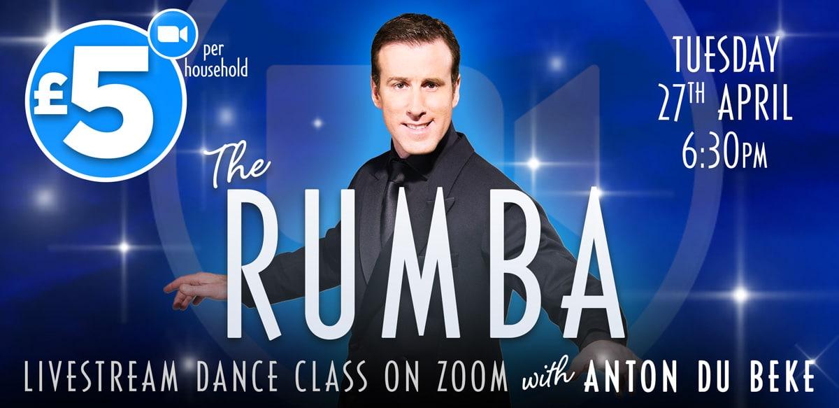 Rumba class on Zoom with Anton Du Beke