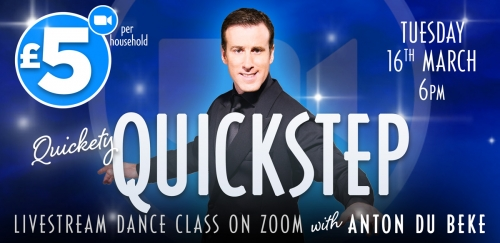 Quickstep Class on Zoom with Anton Du Beke