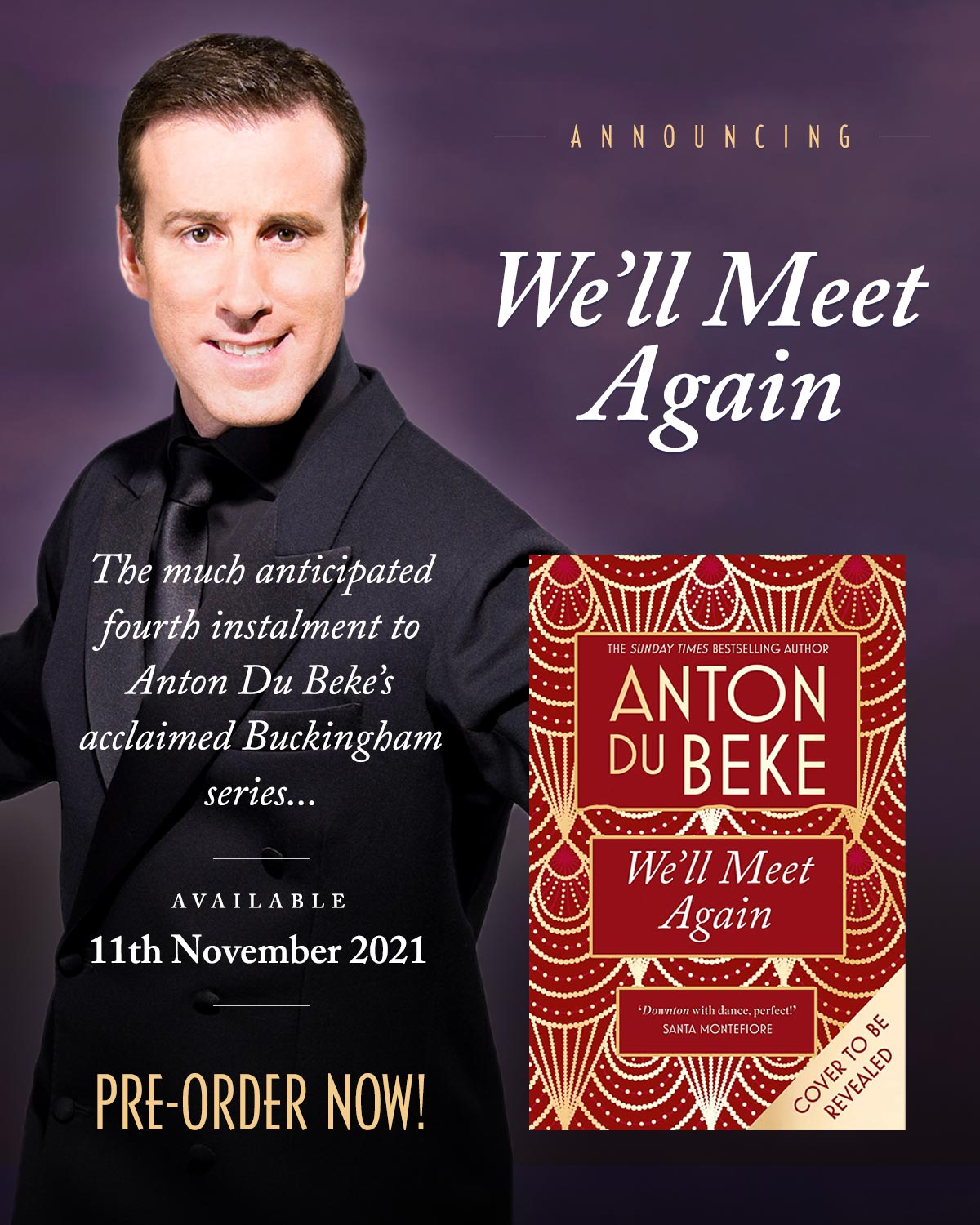 We'll Meet Again - the 4th Novel from Anton Du Beke - pre-order now!